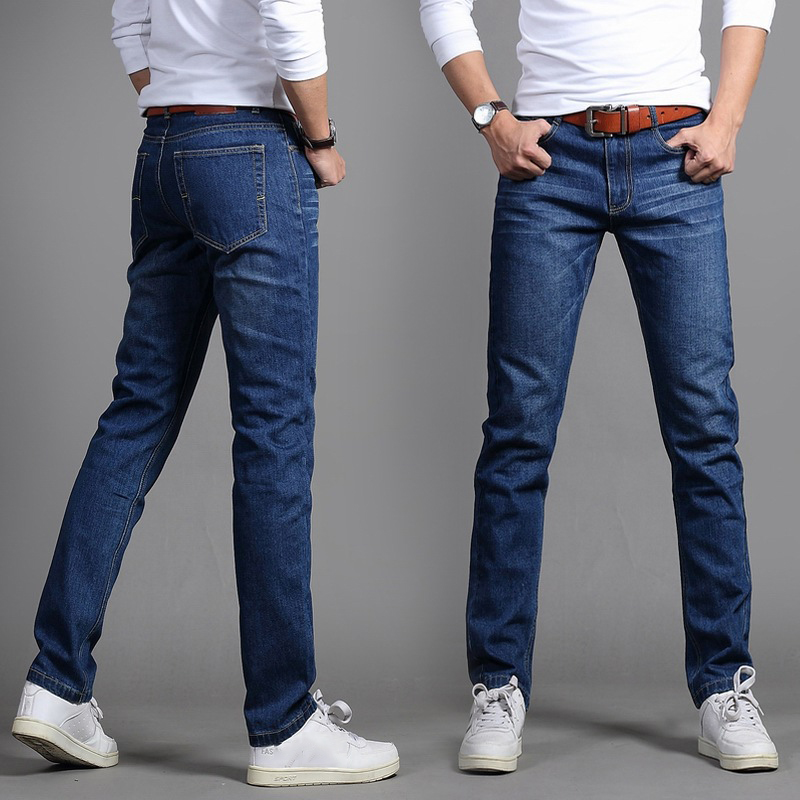 2019 Summer mid   jeans   slim men trousers straight casual pants 24FY