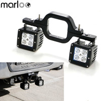 Marloo Universal Tow Hitch Mount Bracket Dual 20W LED Back up Reverse Search Offroad Light For Off Road Truck SUV Trailer RV