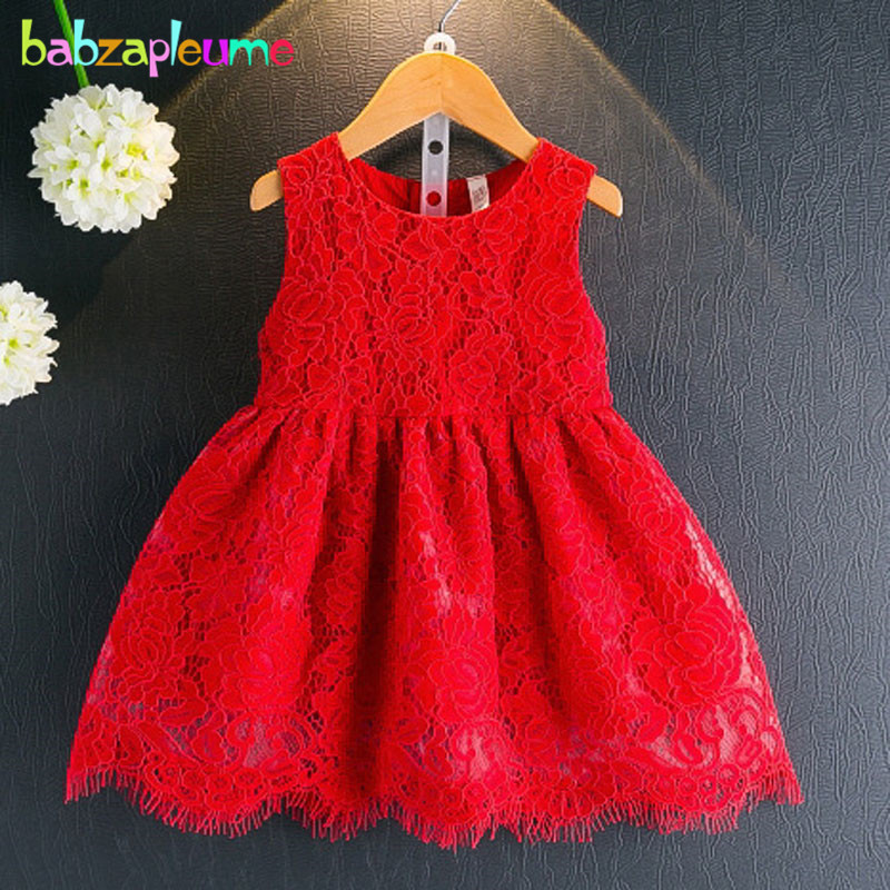babzapleume summer style korean kids dresses baby girls clothes sleeveless lace tutu princess infant party children dress BC1476 шапка quiksilver planter beanie mandarin red