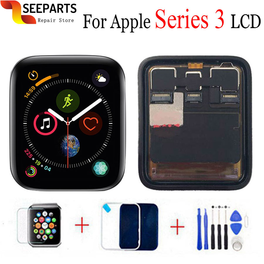 For <font><b>Apple</b></font> <font><b>Watch</b></font> <font><b>Series</b></font> <font><b>3</b></font> LCD Display Touch Screen Digitizer Series3 S3 38mm/42mm Replacement <font><b>GPS</b></font> versions and Cellular versions image