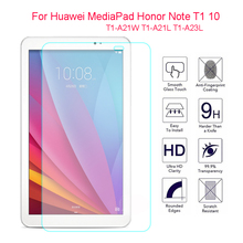 Top Quality Tempered Glass For Huawei MediaPad Honor Note T1 10 T1-A21W T1-A21L T1-A23L 9.6'' Screen Protector Film Hard cover full new high quality for huawei t1 a21 mediapad t1 10 pro lte t1 a21l tablet pc touch screen panel digitizer free shipping