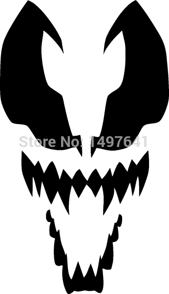 Venom Sticker Crazy Car Window Truck Bumper Laptop Art Wall Etc Spider Man Funny JDM Vinyl Decal 8 Colors alice in wonderland wall decal quote cheshire sayings we re all mad here vinyl decal for macbooks laptops car windows etc