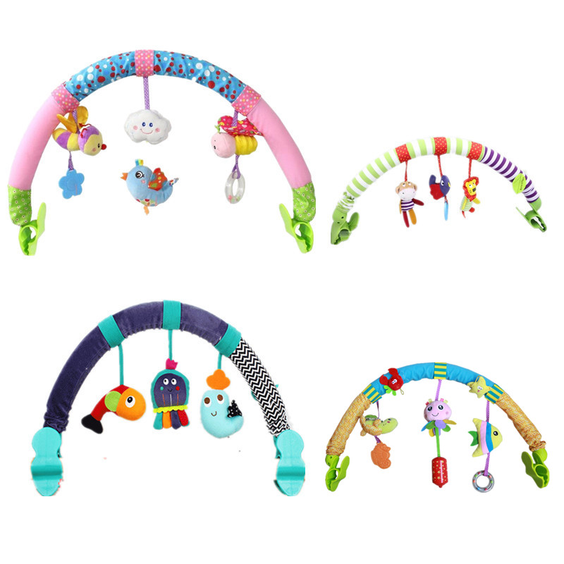 Hot sale lovely Stroller Lathe Car Seat Cot Hanging toys baby play Travel Newborn infant baby
