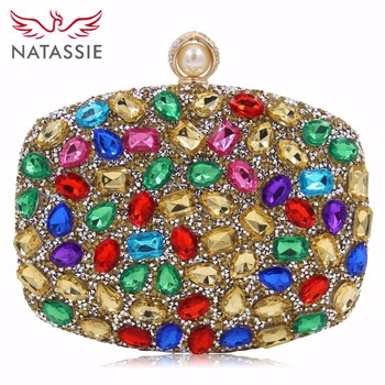 NATASSIE 2018 Women Evening Bag Ladies Clutch Purse Female Luxury Evening Clutches Ladies Weeding Bags