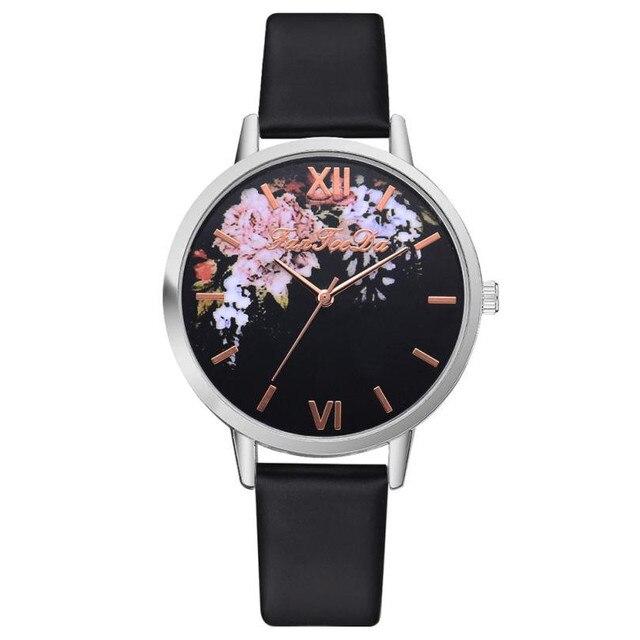 Fashion 2019 Flower Quartz Watch Simple Fashion Lady Glass Alloy Casual Bracelet