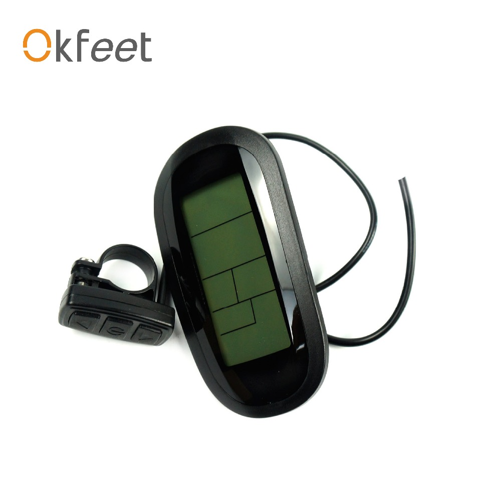 okfeet Free Shipping ebike kunteng intelligent KT LCD6 Control Panel Display Electric Bicycle bike Parts KT
