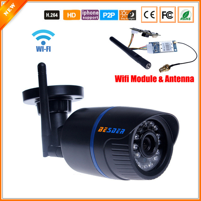 FTP Motion Detect P2P ONVIF Megapixel 720P HD 802.11b/g Wireless Wired IP Camera WifI IR Outdoor Waterproof Camera IP H.264