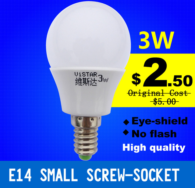 Cold White Light Bulb: FREE SHIPPING E14 220V 3W LED Light Bulb LED Lamp 12 SMD Cold White Warm  White,Lighting