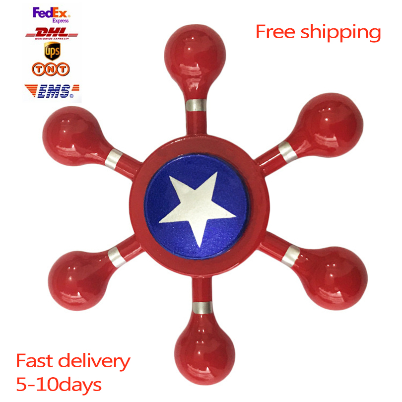 100Pcs/Lot Spiderman EDC Fidget Spinner UFO Captain America Zinc Hand Spinner Aluminum Alloy Fidget Toy Anxiety Stress Adults