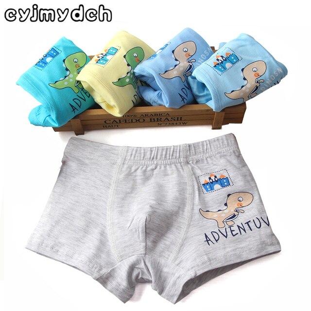 f0739aa4e99 5 stks/partij Cartoon Dinosaurus 95% Biologisch Katoen Kinderen Ondergoed  Kids Shorts Baby Jongens