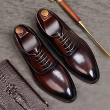 Formal-Shoes Black Brogues Men Autumn Wedding-Shoes Laces Zapatos