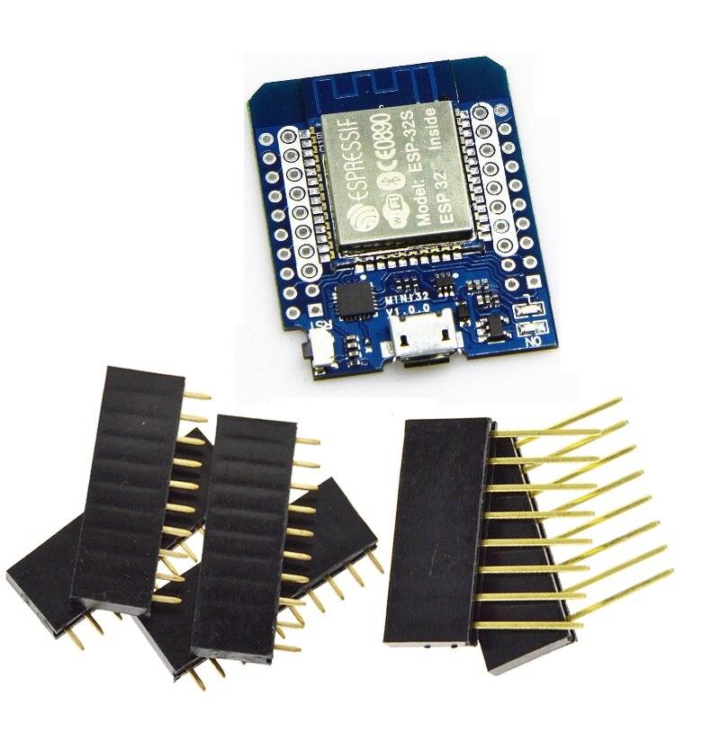 Wemos MINI D1 ESP32 ESP-32S WIFI + Bluetooth ESP8266 Module CP2104 Pour Arduino
