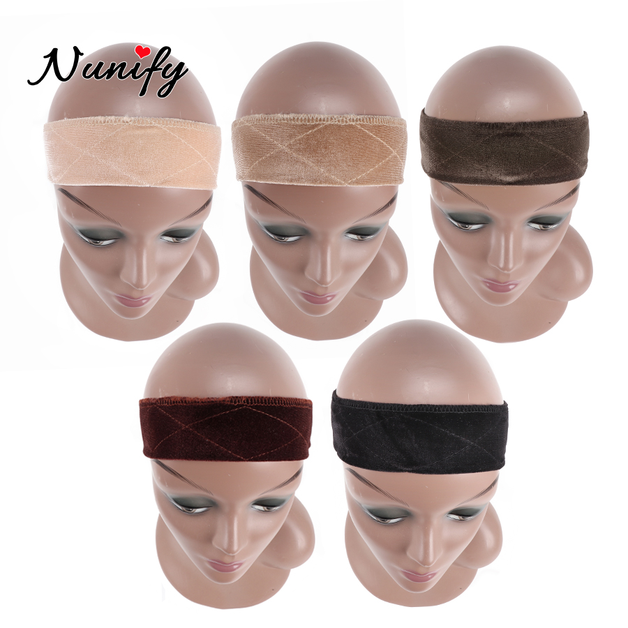 New Nunify Collection Wig Accessories Wig Grip Black Begie Brown Headband Comfortable Adjustable Wig Grip Band 1Pcs/Lot(China)