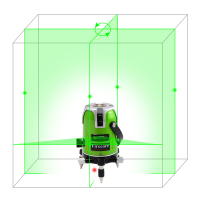 5 Line 1 Point Fukuda Green Laser Level 360 Degree Rotary Laser Line Ek 468G Horizontal