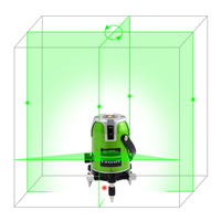5 Line 1 Point Fukuda Green Laser Level 360 Degree Rotary Laser Line Ek 468G Horizontal