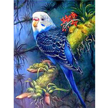 DIY parrot diamond painting blue animals dimaond embroidery full drill mosaic round