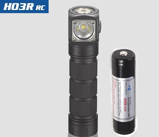 Nuovo Skilhunt H03 H03R H03F RC 1200 lumen freddo o bianco neutro USB magnetica di ricarica torcia elettrica + fascia + batteria - 4