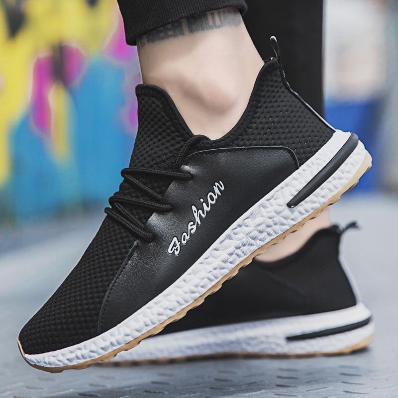 Sneakers Casual Plein Hommes En Bomkinta Chaussures Masculino white Tenis Été Adulto Pied Air Black Respirant Printemps A5UqvnU8x