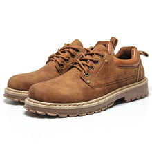Mens boots Lace Up Outdoor British Style Street Causal Desert Stop Martin Shoes Casual Leather work shoes