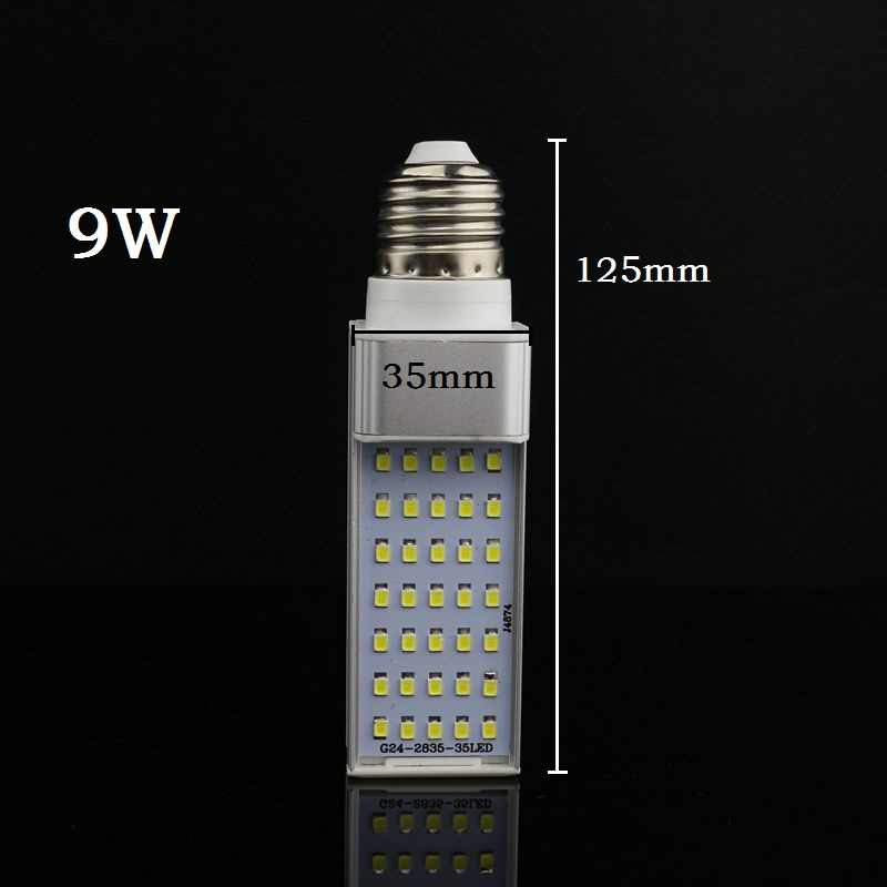 Лампада E27 G24 G23 7 Вт 9 Вт 11 Вт 13 Вт 15 Вт 110 V 220 V 240 V лампа с горизонтальным разъемом SMD2835 Bombillas светодиодный PL кукурузная лампочка направленного света освещение