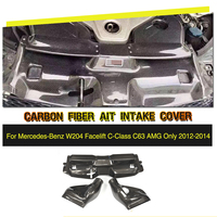 Углеродного волокна автомобилей забора воздуха Фильтр Крышка для Mercedes Benz C Class W204 C63 AMG седан Coupe 2012 2013 2014 2015