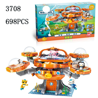 Legoed city Cartoon LepinS Movie Octonauts Octopus castle boat Building Blocks Bricks Toys LegoINGLY Submarine Model kits gifts
