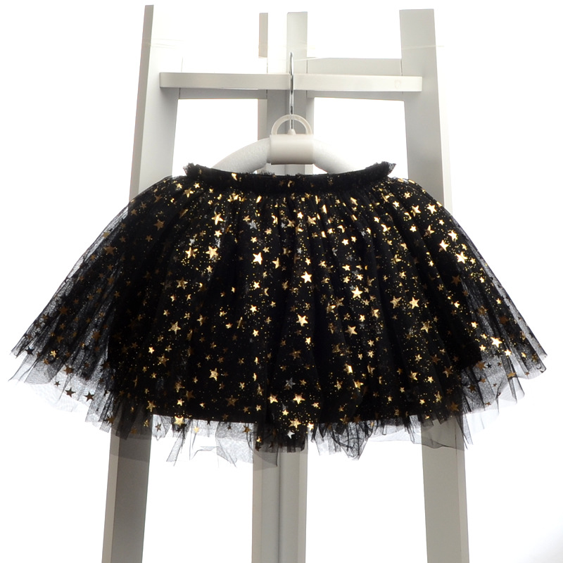 NEW spring autumn Baby Girl Clothes Girls Clothing full stars Sequins mini Skirt Casual school girls ball gown clothes for 4-10T (12)