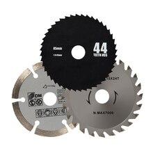 Сумасшедший Питания 85 мм Дисковые Пилы HSS/TCT деревообрабатывающей Роторный Инструмент Диски Отрезные Оправка для мини-дисковой пилы 3 шт./лот