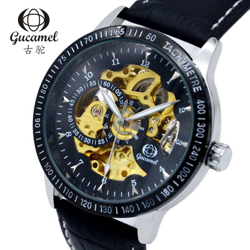 Elegant Skeleton Scale Automatic Mechanical Wristwatches Wholesale Hollow Black Leather Male Charm dress Watches Elegant Skeleton Scale Automatic Mechanical Wristwatches Wholesale Hollow Black Leather Male Charm dress Watches