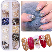 1 Box 3D Abalone Shell Irregular Nail Art Decorations Flake Slider Nails Shimmer Pearl Jewelry Tips Manicure Tool