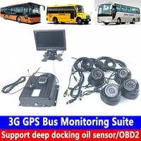 Apoio sensor de óleo encaixe profundo/OBD2 3G GPS Ônibus Suíte de Monitoramento de máquinas Pesadas/pneus para automóveis de passageiros/transporter display Led