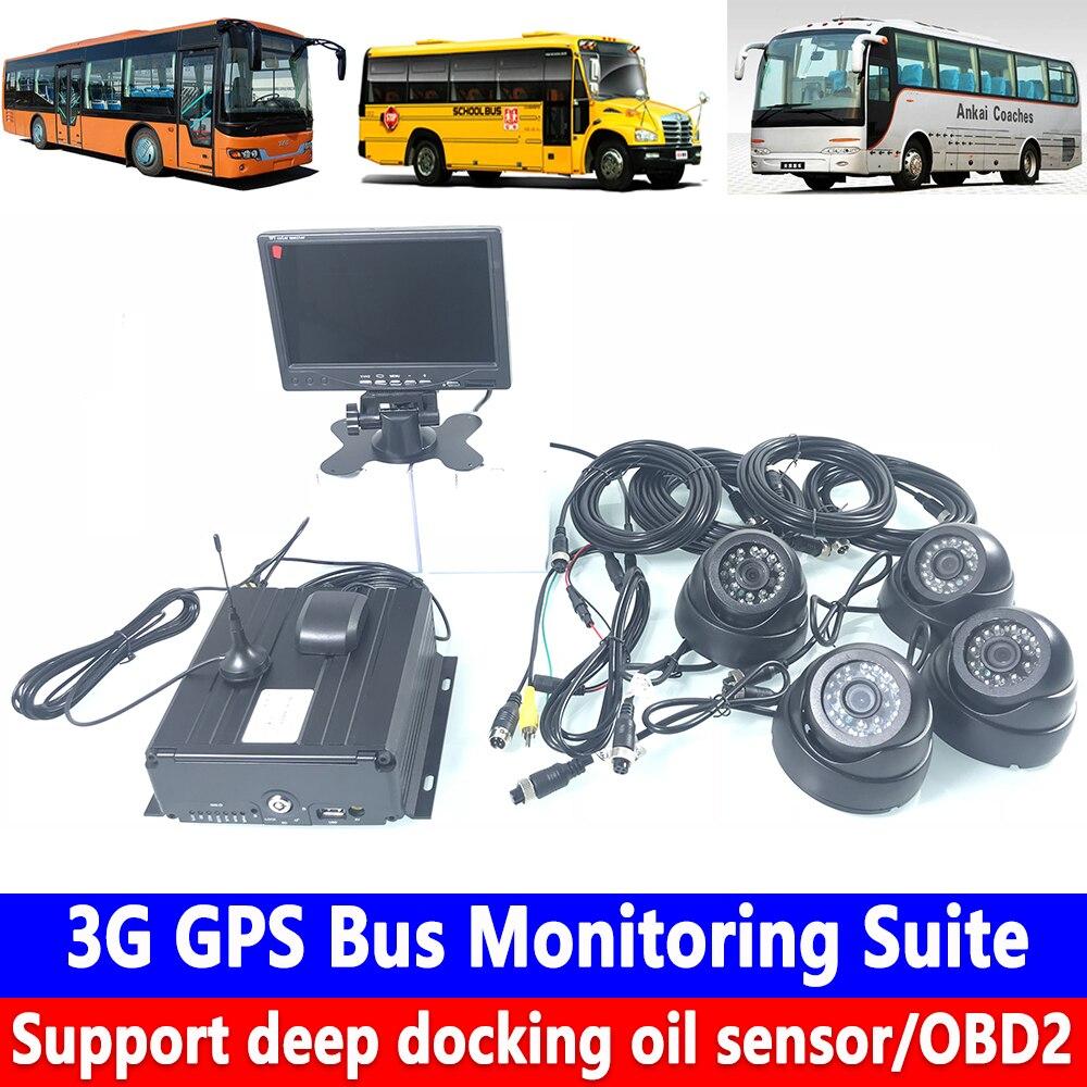 Otomobiller ve Motosikletler'ten Araba Çok açılı Kamera'de Destek derin yerleştirme yağ sensörü/OBD2 3G GPS Veri Yolu Izleme Paketi Ağır makine/yolcu araba/taşıyıcı led Ekran title=