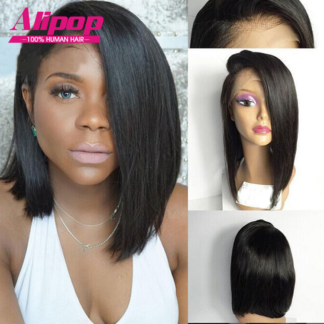 Malaysian Short Wigs For Black Women Full Lace Human Hair Bob Wigs,Lace Front Human Hair Wigs With Baby Hair,Human Hair Bob Wigs