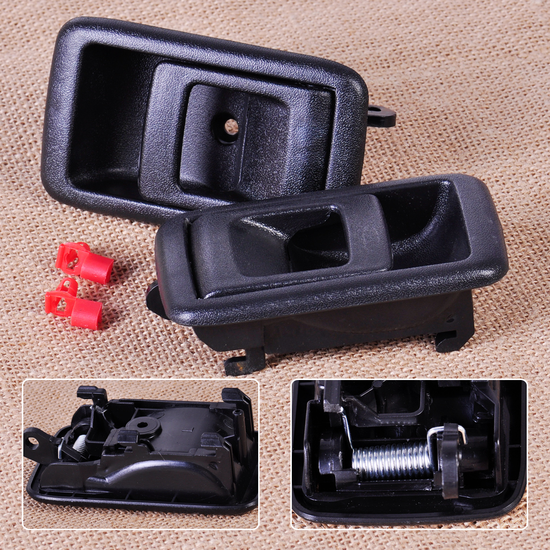 Citall 2pcs interior door handle inner front rear left right side fit for toyota camry tacoma