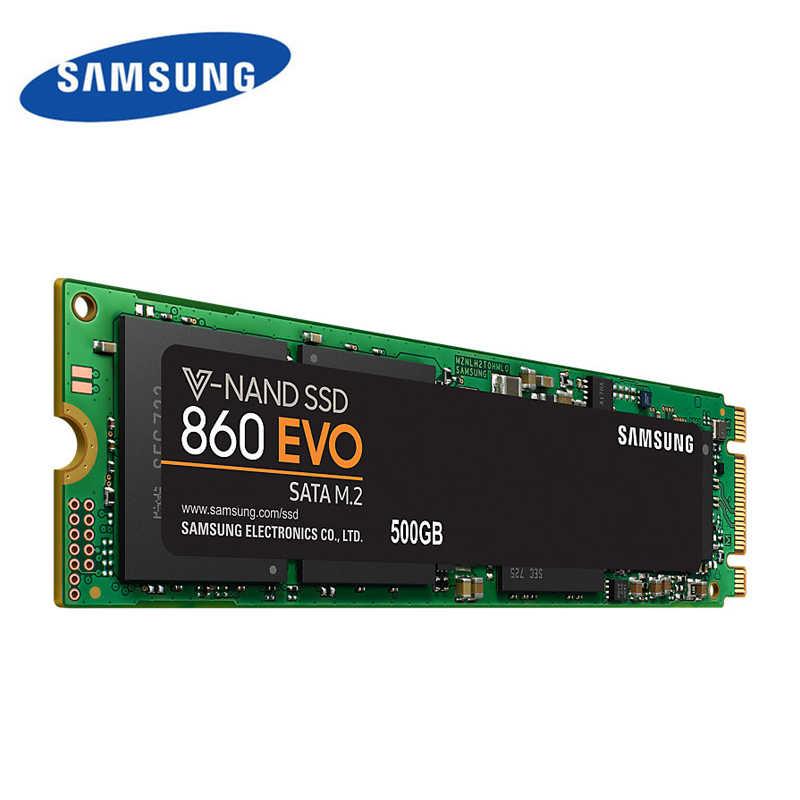 100% marca original samsung ssd m.2 860 evo 2280 sata 250 gb 500 gb disco de estado sólido interno hdd m2 ssd 1tb para computador portátil