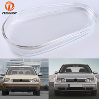 POSSBAY for VW Rabbit Conv./Golf Cabrio.1999 2002 Headlight Case Headlight Cover Shell Headlight Glass Lens Headlamp Mask