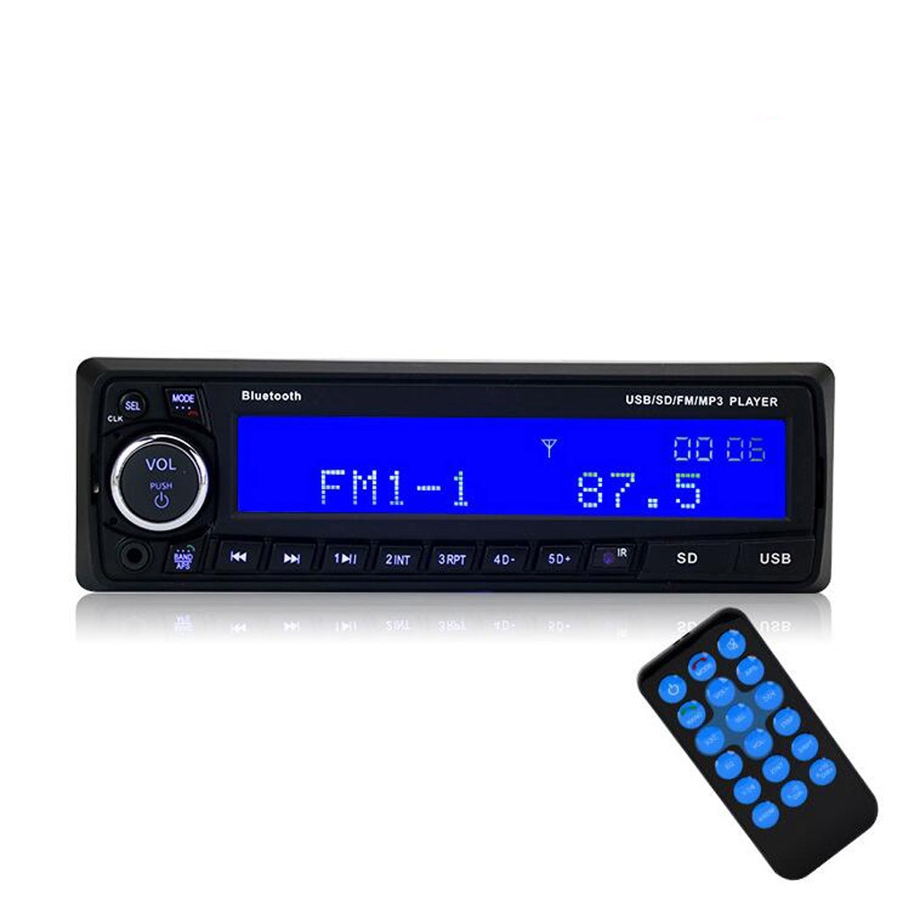 Auto 1 Din Stereo Radio Car Audio FM Mp3 Player Bluetooth Music Radio U Disk wireless fm transmitter stereo lcd broadcast radio station 1w to 7w u disk audio mp3 player