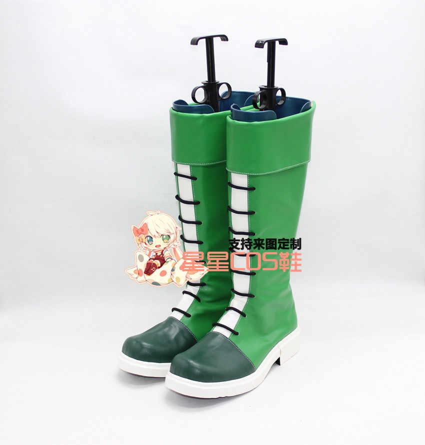 Охотник Гон Фрикс Зеленый Хэллоуин Косплэй ботинки X002|gon cosplay|boots boots|boots green