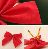 Set of 12 Christmas Bowknot Shaped Ornaments
