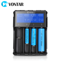 VONTAR VT4 Plus LCD Battery Charger Rechargeable Battery For Li ion NiMH Ni CD LiFePo4 AA AAA 26650 14500 22650 18650 C 3.7V