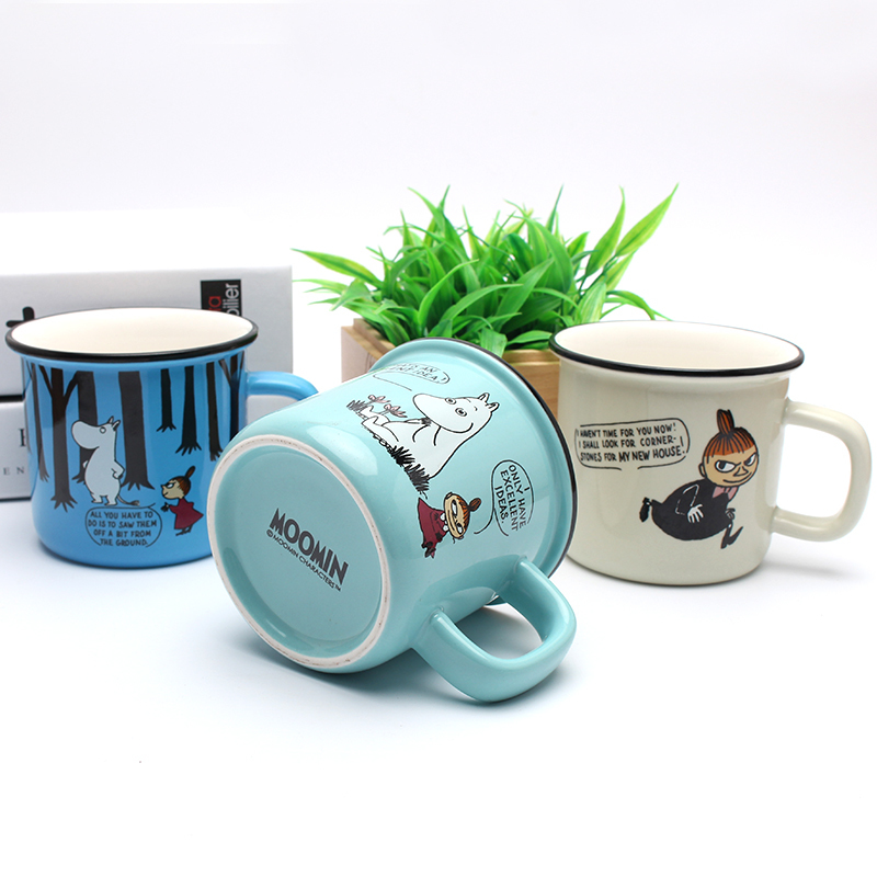 Mini Moomin Beautiful Ceramic Concise Cartoon Lovely Mug Coffee Cup Originality Wine Beer Whiskey Glass Vaso Verre Nmd Thule Cam