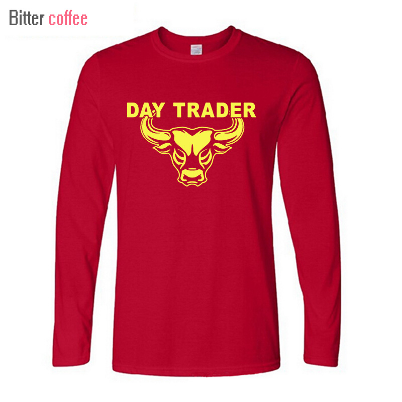 2017 NEW Autumn and winter T-Shirts Day Trader Shirt Stock Market Trading Long sleeve Tops & Tees XS-XXL image
