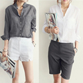 Vetement Femme Woman Clothes Womens Tops Fashion 2016 Blusas Femininas Women Blouses Linen Blouse White Shirt Plus Size