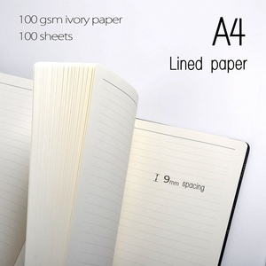 Image 3 - A4 notebooks lined paper 100 sheets(200pages) line pages notepad agenda diary Organizer journal Stationery Store office supplies