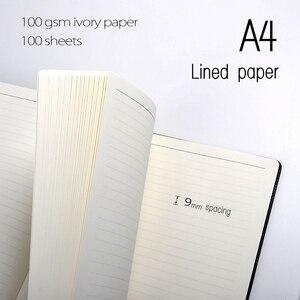Image 3 - Cuadernos A4 de papel rayado, 100 hojas (200 páginas), páginas de línea, Bloc de notas, agenda, diario, organizador, papelería, tienda, suministros de oficina