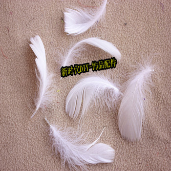 4 to 8 cm DIY Earrings Jewelry Accessories Floating Feathers chicago-brewed Goose Feathers Nest 12 PCS/lot of Feathers white image