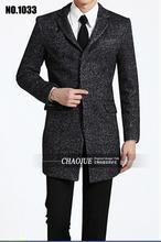 S-5XL! мужская Тонкий Вскользь Средней длины Шерстяные Пальто осень Зима пальто мужчины Мужчины пальто! бесплатная доставка