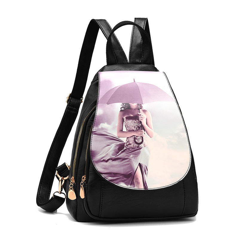 Women Backpack High Quality PU Women Bag Leather School Bags For Teenagers Girls Fashion Korean Style Luxury Large capacity