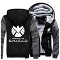 EUA tamanho Homens Mulheres Shield S.H.I.E.L.D. camisolas jaqueta clothing engrossar casaco moletom com capuz casuais