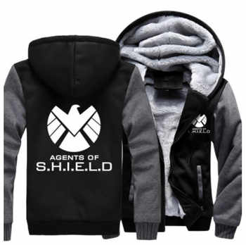 US size Men Women Coat for Agents of Shield S.H.I.E.L.D. Jacket Sweatshirts Thicken Hoodie Clothing Casual